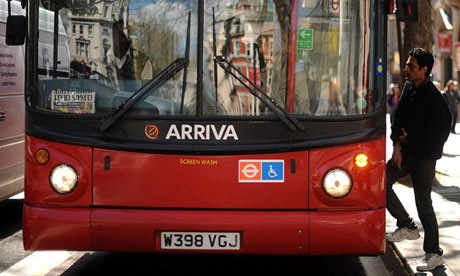 A London bus operated by Arriva