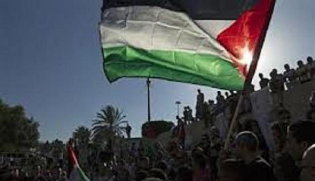 rakyat palestina merayakan kemenangan